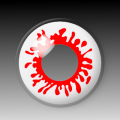 BLOOD SPLAT - party hall contact lenses