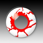 BLOOD SHOT WHITE - party hall contact lenses