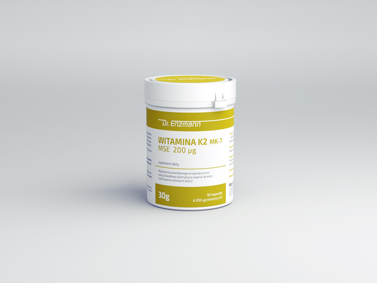 8953a2a5f7b8e8 Mitoceutyki - Witamina K2 MK-7 MSE - wysoka dawka – 200 µg, forma ...