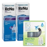 2 x ReNu MPS 360 ml + Biotrue Flight Pack 2x60ml