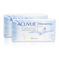 Acuvue OASYS z HYDRACLEAR PLUS 2 x 6 BC: 8.8 mm - dwutygodniowe
